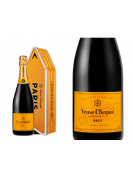 CHAMPAGNE VEUVE CLICQUOT BRUT CARTE JAUNE COFFRET ARROW
