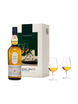 COFFRET MALTS AND FOOD WHISKY LAGAVULIN 8 ANS ETUI