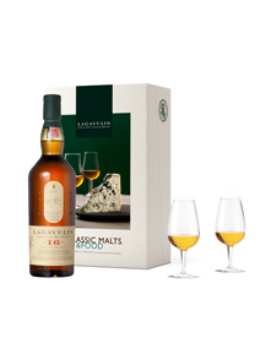 COFFRET MALTS AND FOOD WHISKY LAGAVULIN 16 ANS