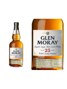 WHISKY GLEN MORAY 25 ANS PORT WOOD FINISH