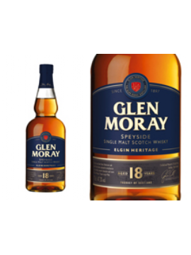 WHISKY GLEN MORAY 18 ANS COFFRET