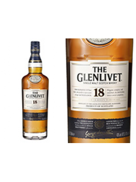 WHISKY THE GLENLIVET 18 ANS ETUI