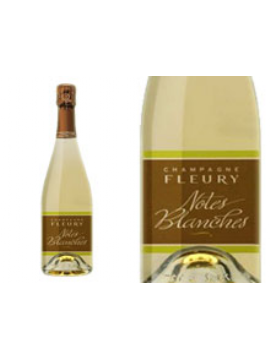CHAMPAGNE FLEURY NOTES BLANCHES BRUT NATURE
